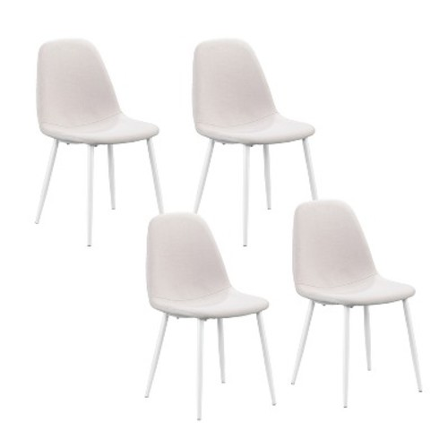 5 Pc Set Hardin Dining Table and Chairs White - Aiden Lane