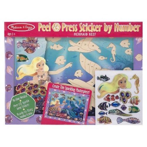 Melissa & Doug Peel & Press Sticker by Numbers Mermaid Reef