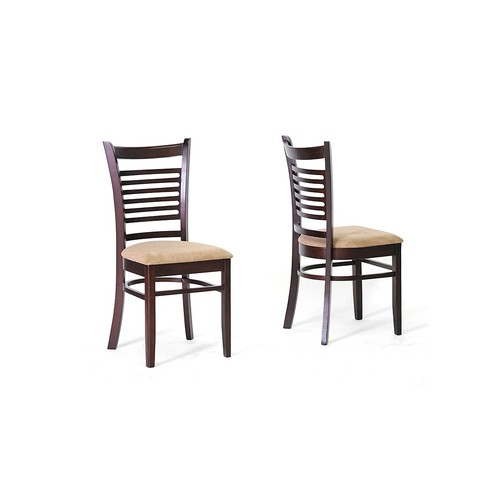 Baxton Studio Set of Two Cathy Wood Modern Dining Chair, Brown