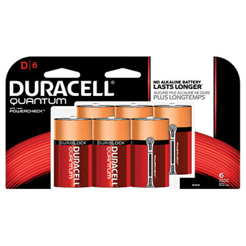 Duracell Quantum Alkaline D Batteries, Pack Of 6