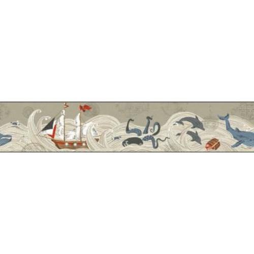 York Wallcoverings Waverly Kids Ships Ahoy Wallpaper Border