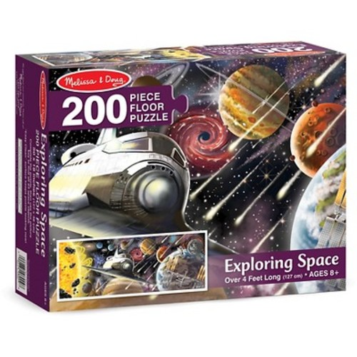 Melissa & Doug Exploring Space Jumbo Jigsaw Floor Puzzle (200 pcs, over 4 feet long)