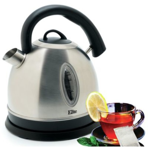 Elite by Maxi-Matic Platinum 1.8-qt. Stainless Steel Cordless Electric Water Kettle