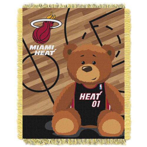 NBA 04401 Heat Half Court Baby Throw