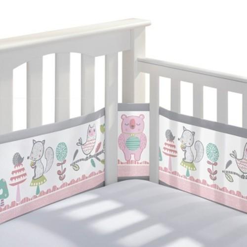 BreathableBaby Mesh Crib Liner - Girl Forest