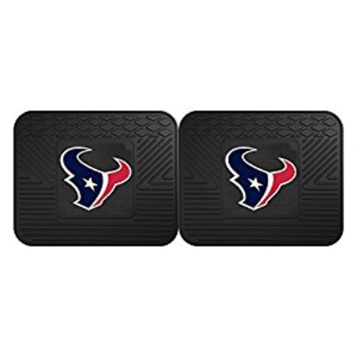 Fanmats 12363 NFL Houston Texans Rear Second Row Vinyl Heavy Duty Utility Mat, (Pack of 2)