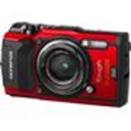 Olympus Tough Series TG-5 (Red) Waterproof/shockproof 12-megapixel digital camera with 4X optical zoom, Wi-Fi, and GPS