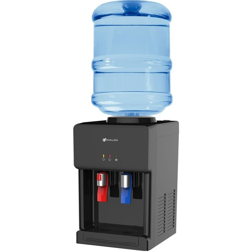 Avalon Premium Hot/Cold Top Loading Countertop Water Cooler Dispenser with Child Safety Lock, Black