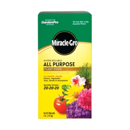 Miracle-Gro All Purpose Plant Food For Plants Flowers Vegetables 4 lb.(170101)