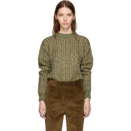 PRADA Green Lurex Knit Sweater