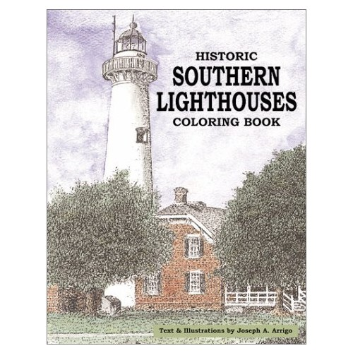 Historic Southern Lighthouses Coloring Book