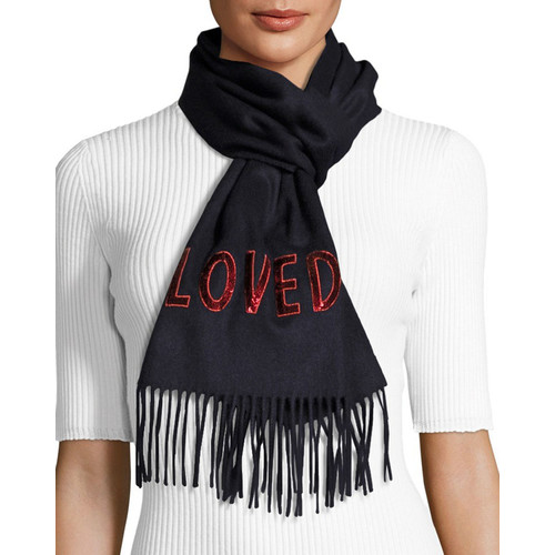 GUCCI Loved Silk Cashmere Reversible Scarf