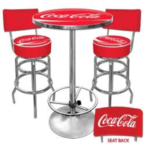 University of Nevada Padded Swivel Bar Stool with Back