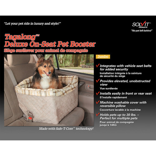 Solvit Deluxe Tagalong Pet Booster Seat [Large]