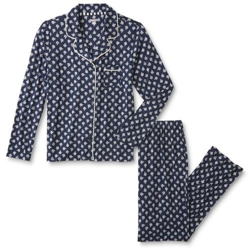 Pink K Women's Pajama Shirt & Pants - Floral