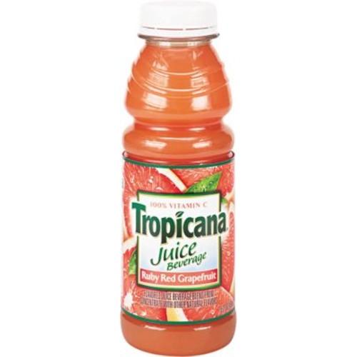 Tropicana Ruby Red Grapefruit Juice, 10 oz. Bottles, 24/Case