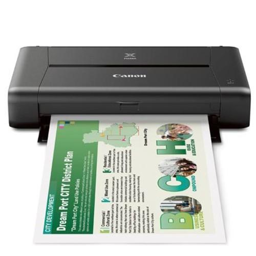 Canon PIXMA iP110 Wireless Mobile Inkjet Color Photo Printer With Acc Bundle