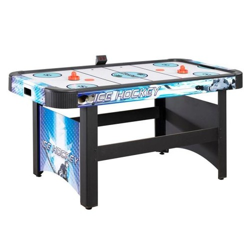 Hathaway Face-Off 5 ft. Air Hockey Game Table for Family Game Rooms with Electronic Scoring, Free Pucks and Strikers