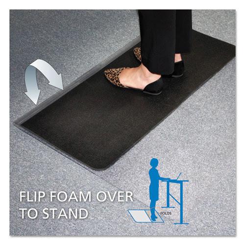 E.S. Robbins Sit or Stand Mat for Carpet or Hard Floors, 45 x 53, Clear/Black (ESR184603)