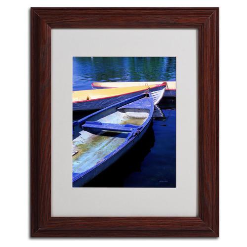 Kathy Yates 'Bois de Boulogne Boats' Framed Mattted Art