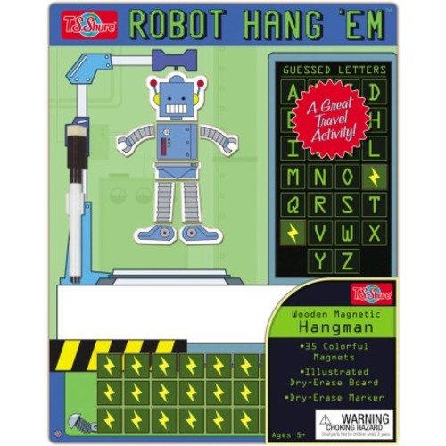 T.S. Shure Hang'Em Robot Wooden Magnetic Hangman Game