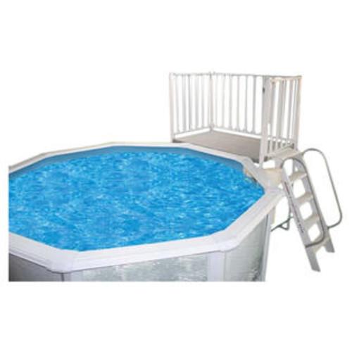 Heritage Pools Free Standing Aluminum Deck Size: 3' x 5' - FS3X5X52