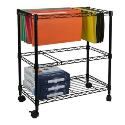 Oceanstar Design Portable 2-Tier Metal Rolling File Cart