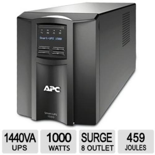 APC Smart-UPS 1500VA LCD - UPS - AC 120 V - 1000 Watt - 1440 VA - USB - 8 output connector(s) (SMT1500US)