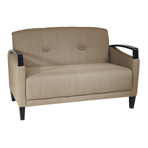 Office Star Ave Six Main Street Loveseat, Green/Espresso
