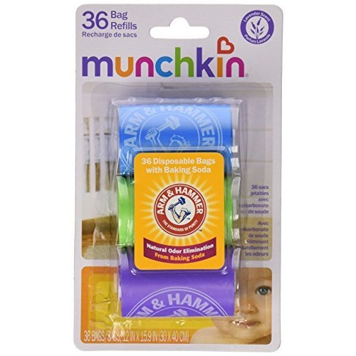 Munchkin Arm and Hammer Diaper Bag Refill, 36 Bags