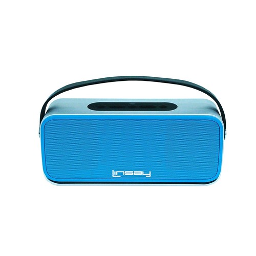 LINSAY NEW SLH_100B High End Bluetooth Speaker, Blue