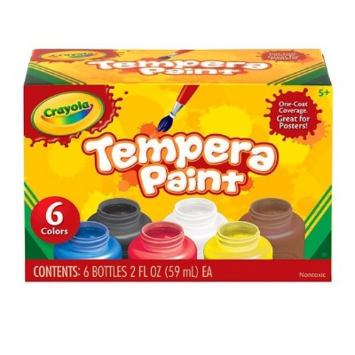 Crayola Tempera Paint 6ct 2oz
