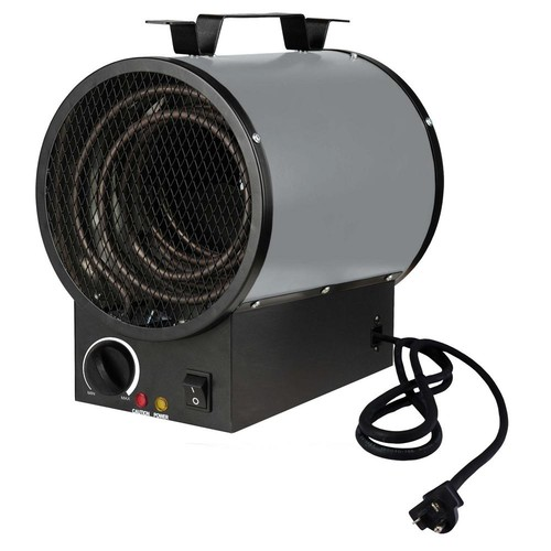 KING 240-Volt 4000-Watt Portable Shop Heater in Gray