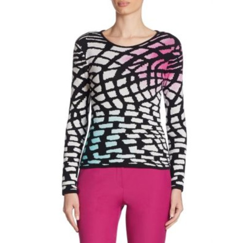 ARMANI COLLEZIONI Intarsia-Knit Wool & Cashmere Sweater