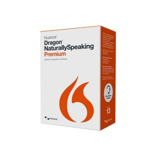 Nuance Dragon NaturallySpeaking French v.13.0 Premium Software, 1 User, Windows, DVD-ROM