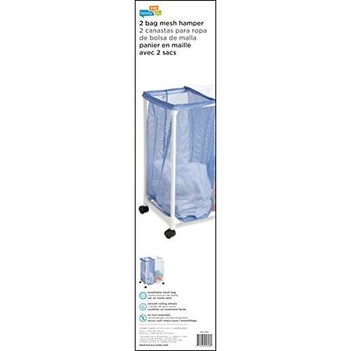 Honey-Can-Do HMP-01628 Mesh Laundry Sorter, Rolling, 2-Bag [2 Bag]