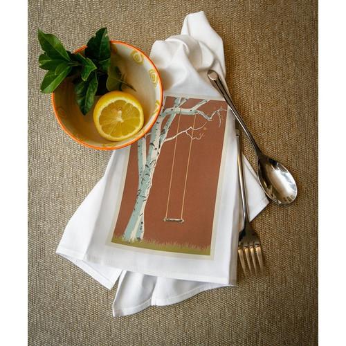Birch Tree - Letterpress - LP Artwork (100% Cotton Towel Absorbent)