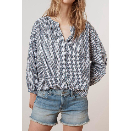 Printed Cotton Button-Up