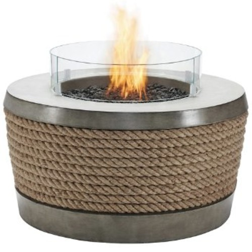 Brown Jordan Fires Loop Fire Table [Finish : Natural; Burner Type : Liquid Propane/Natural Gas]
