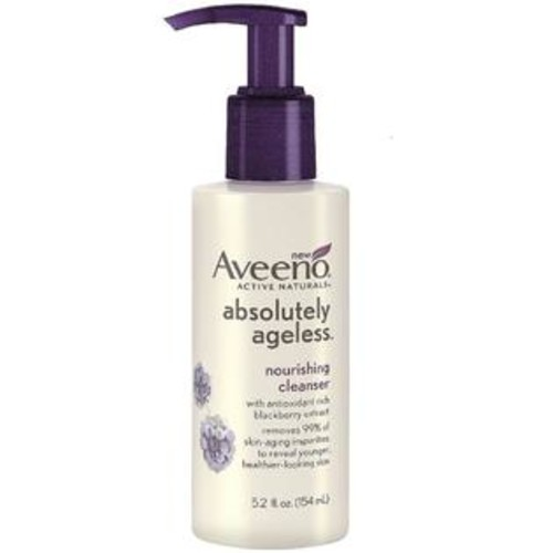 Aveeno Active Naturals Absolutely Ageless Nourishing Cleanser, Blackberry 5.2 oz