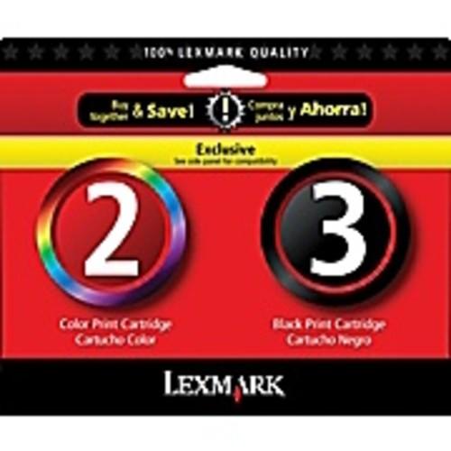 Lexmark 2/3 Black and Color Ink Cartridges (18C1737), 2/Pack