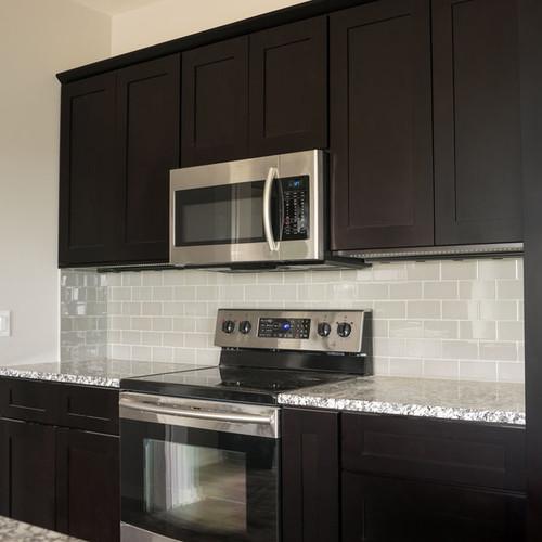 Everyday Cabinets 36-inch Dark Espresso Shaker Double Door Bridge Wall Cabinet
