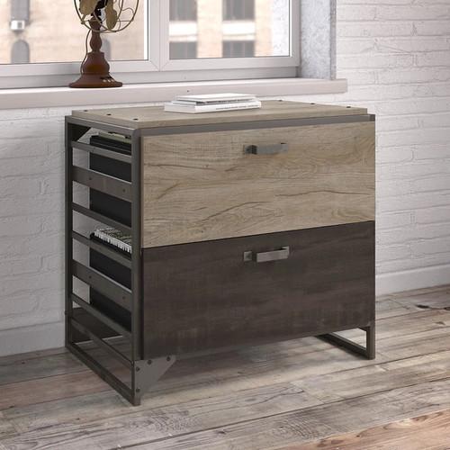 Bush Furniture Filing Cabinets & File Storage Refinery Lateral File Cabinet