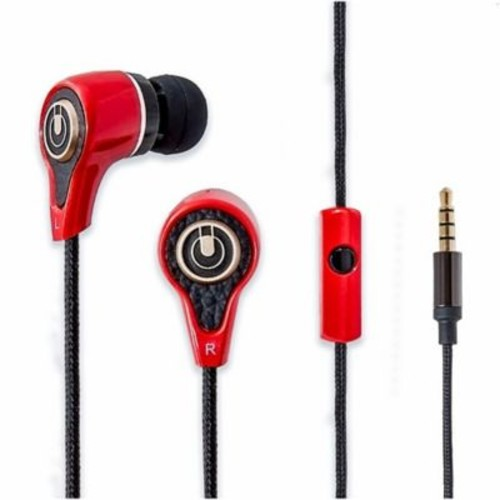 IOCrest Stereo Heavy Bass In-ear Headphones Headset with Mic Red