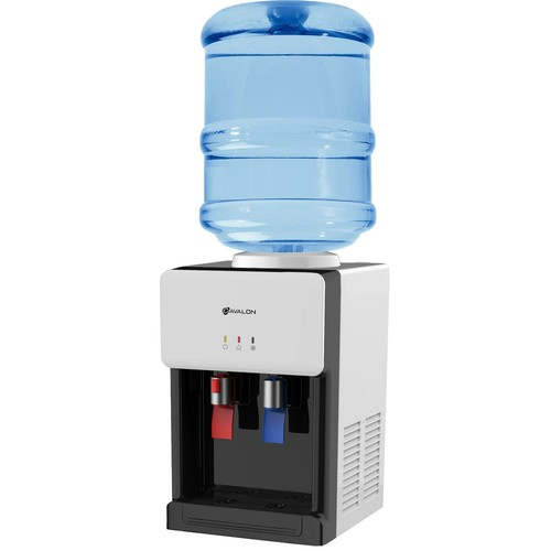 Avalon Premium Hot/Cold Top Loading Countertop Water Cooler Dispenser with Child Safety Lock, White