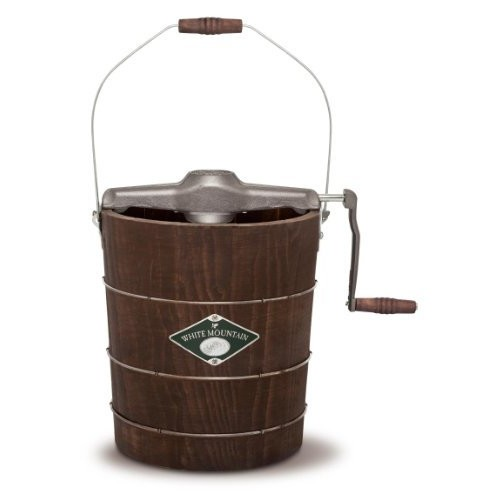 White Mountain PBWMIMH412-SHP Appalachian Series Wooden Bucket 4-Quart Hand Cranked Ice Cream Maker [4-Quart]
