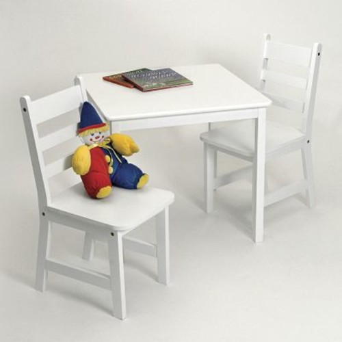 Lipper International Kids' 3 Piece Table and Chair Set Finish: White