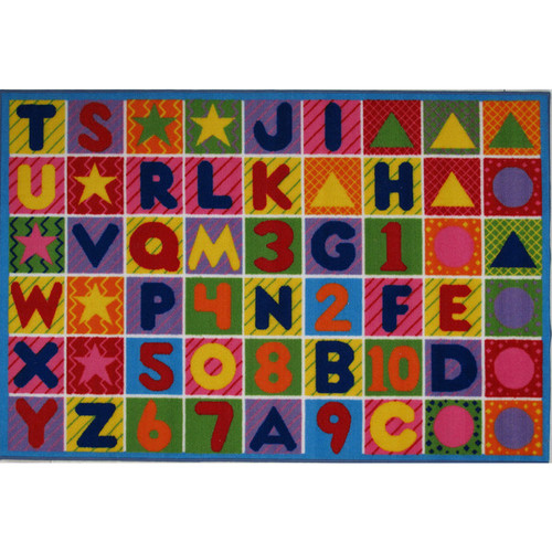 Numbers and Letters Multi-colored Accent Rug (3'3 x 4'8)