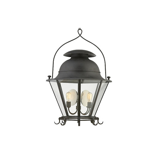 Cranbrook Large Lantern, Black Rust