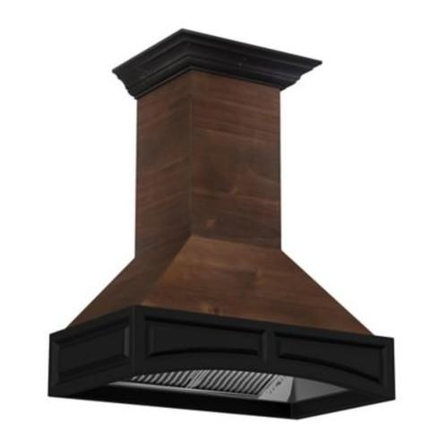 ZLINE Designer Series 321AR 30-Inch Wooden Wall Range Hood with Black Molding